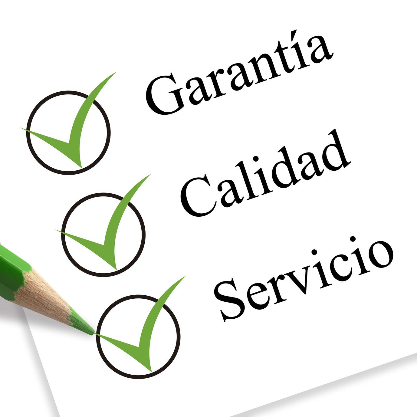 garanta, calidad y servicio